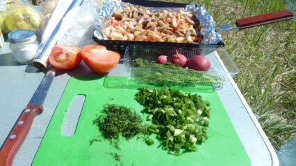 рецепт еда на природе отдых туризм костер мангал мясо
