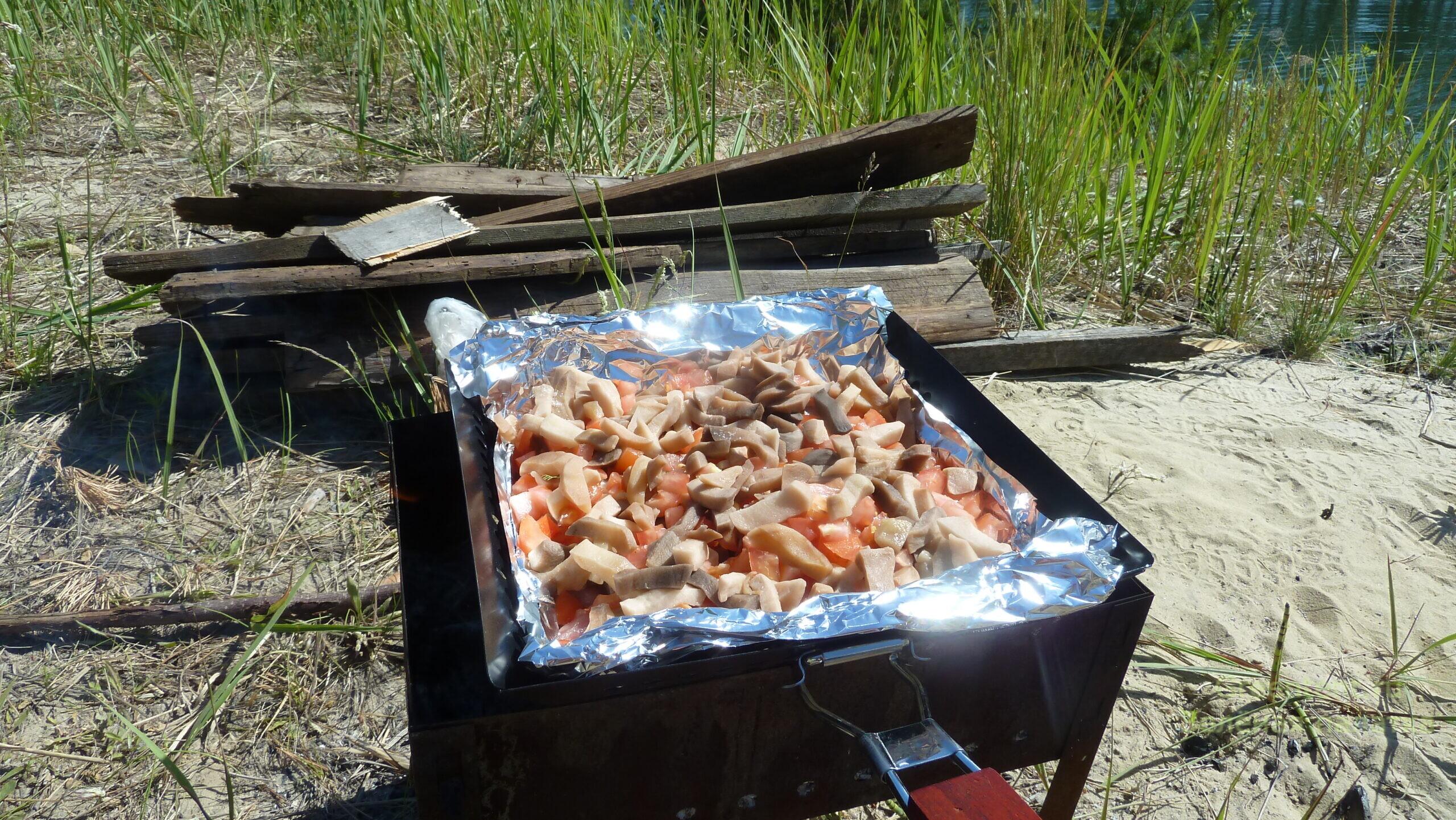 рецепт мяса по лесному отдых туризм костер мангал еда