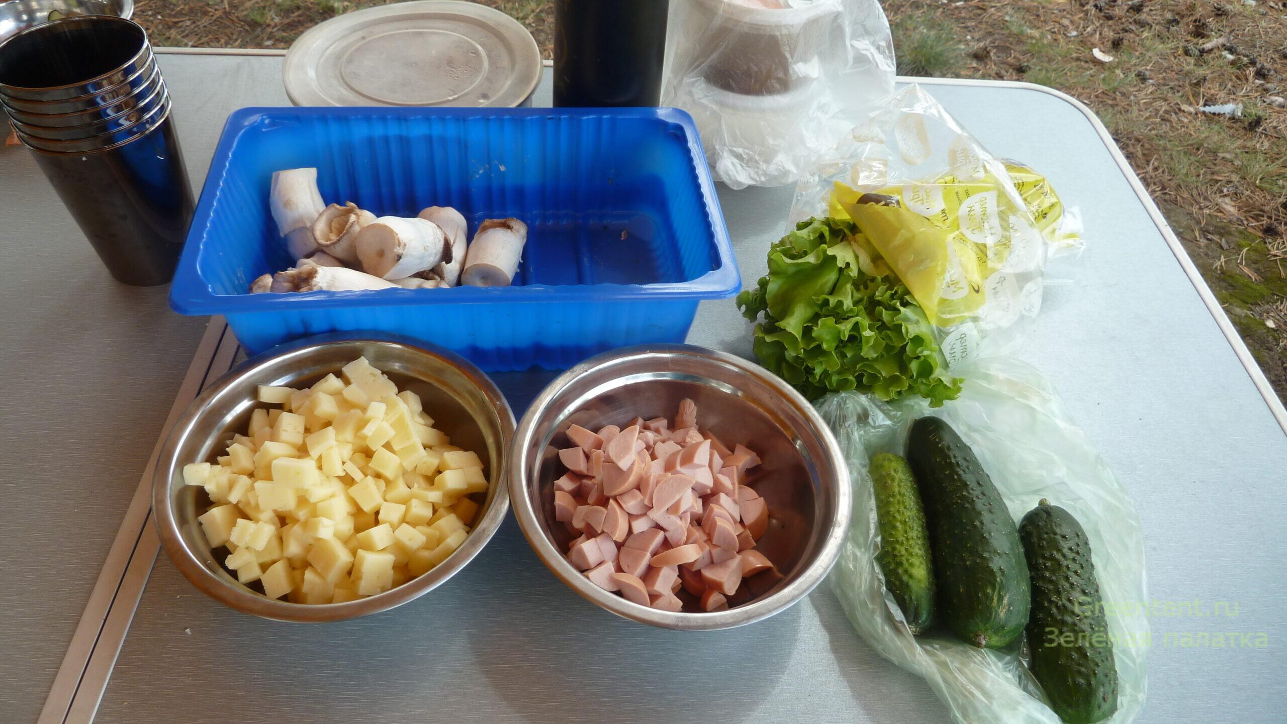 рецепт дикие шампиньоны на костре лес природа отдых туризм еда