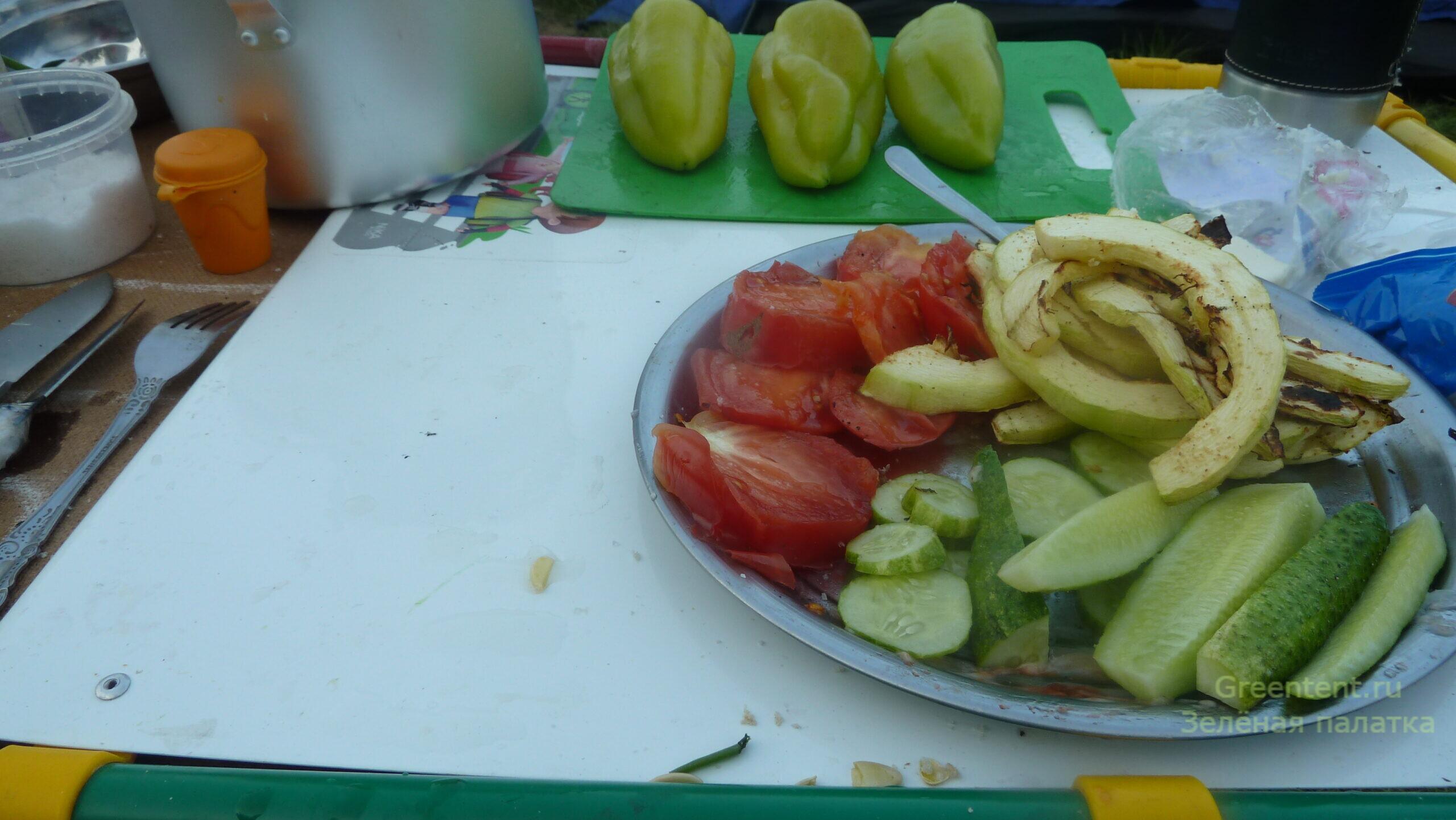 кабачок на углях рецепт еда природа на костре лес с палатками